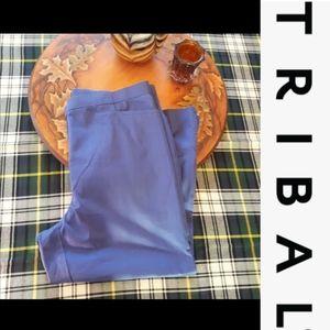 size 14 trible purple cropped Capri shorts